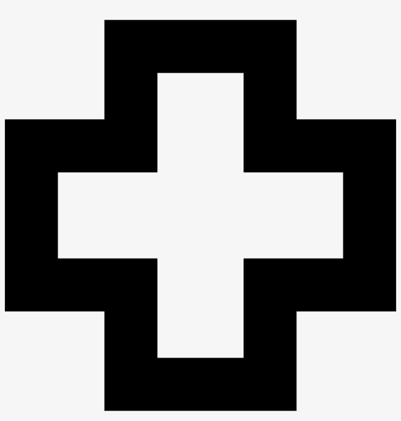 Addition Sign Simbolo Cruz Roja Para Colorear 980x982 Png