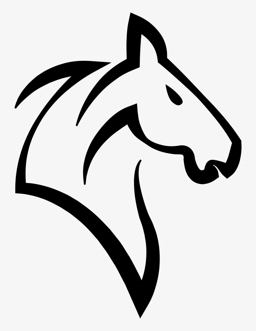 Horse Logo - - Horse Outlines Transparents - 728x980 PNG