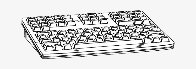 28 Collection Of Keyboard Drawing Image Sketch Of Computer Keyboard 640x320 Png Download Pngkit