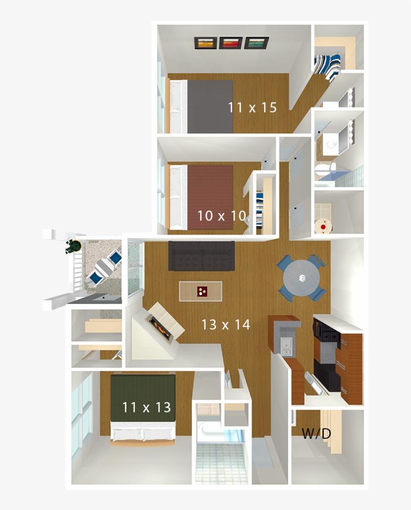 Bent Tree Apartments Floor Plan 1022x1022 Png Download Pngkit