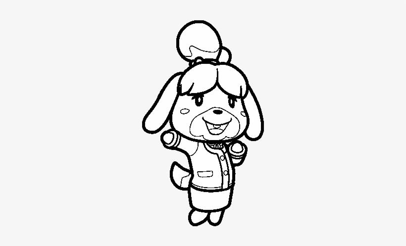 Dibujo De Animal Crossing Isabelle Animal Crossing Coloring