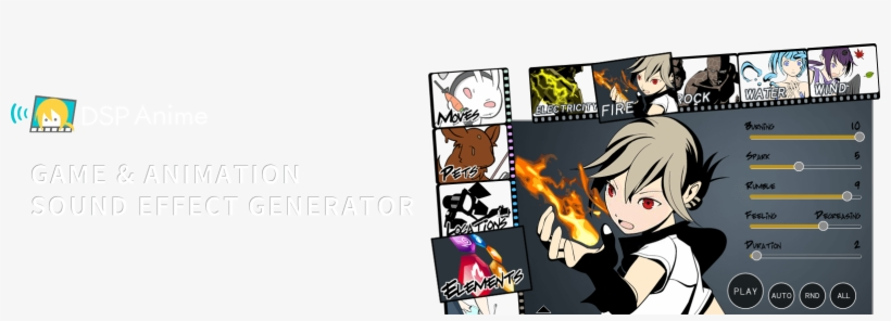 Creating Sound Effects Has Never Been That Fun Banner Anime Generator 1603x502 Png Download Pngkit