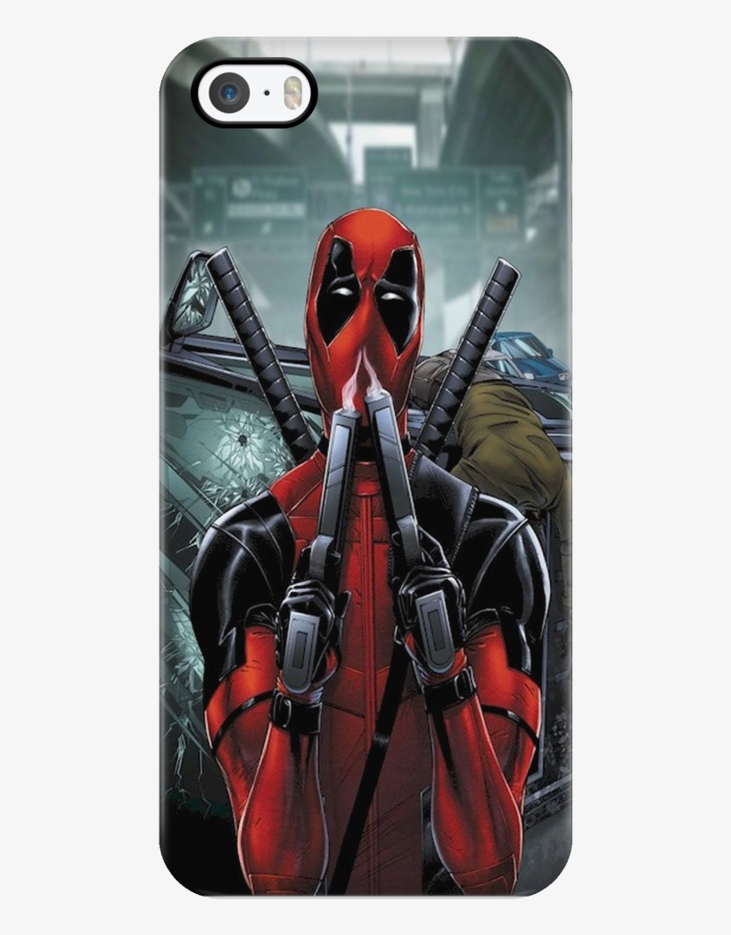 Dead Pool Sniffing Gun Smoke Iphone Case Deadpool Wallpaper Hd Android 1024x1024 Png Download Pngkit