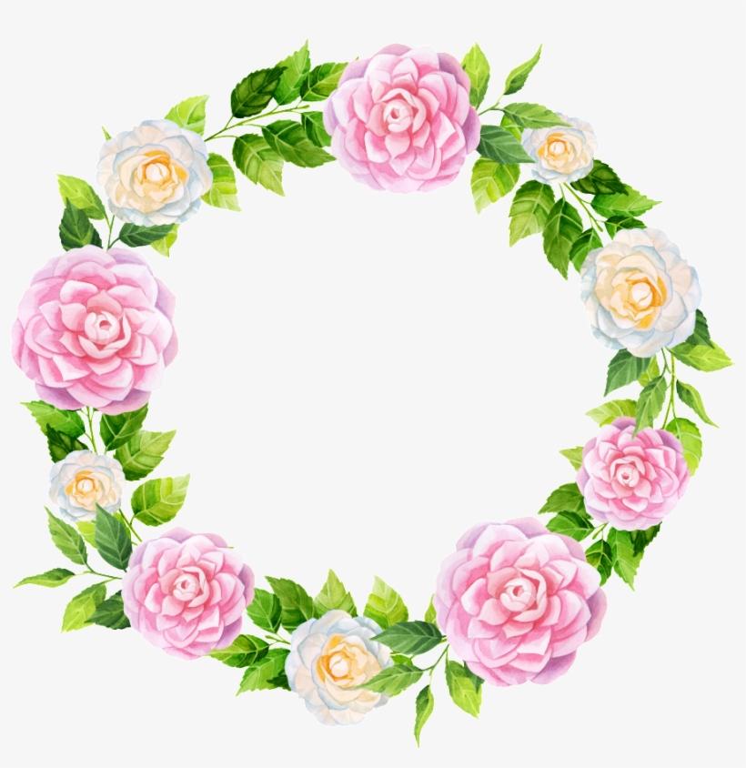 Peonia Rosa Corona Png Transparente Tropical Flower Frame