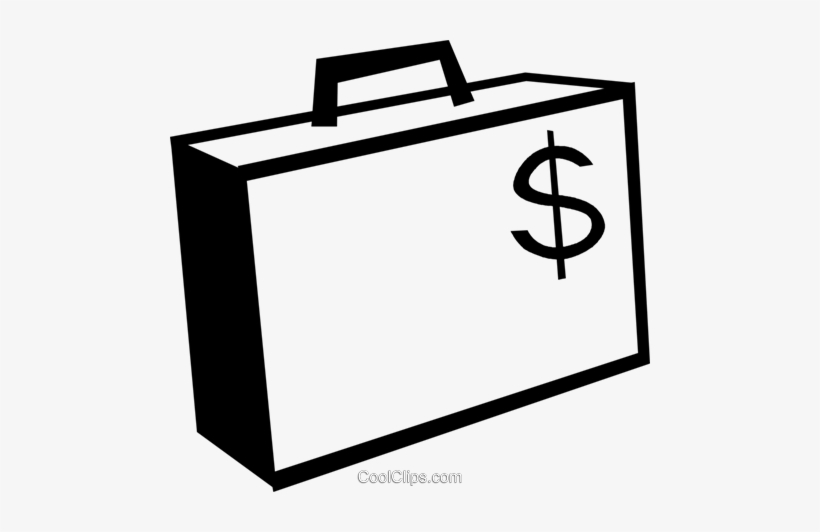 Briefcase With A Dollar Sign On It Royalty Free Vector