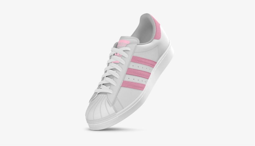 factory price 47009 078cd Adidas Mi Superstar 80s Custom Shoes - Adidas Sneakers Pink Stripes,  transparent png