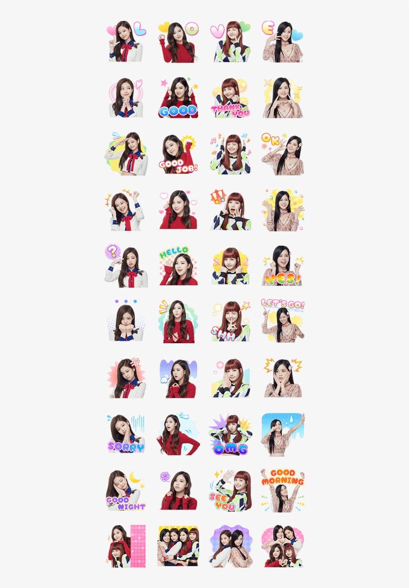 Blackpink Stickers Finally Released Start Having Fun Cute Sticker Black Pink 420x1121 Png Download Pngkit