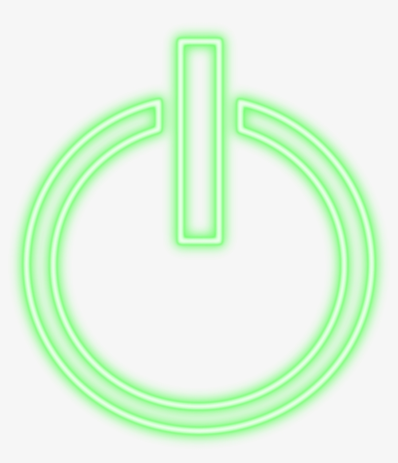Electronics - Green Power Button Png - 1280x1280 PNG