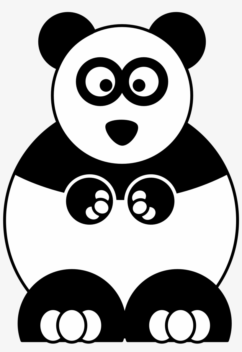 Kumpulan Gambar Hello Panda Black And White Drawing Panda
