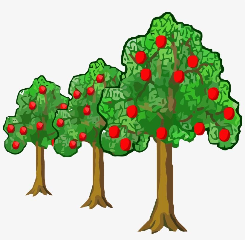 Far Near Apple Tree Clipart Png Apple Trees Clipart 1509x1406