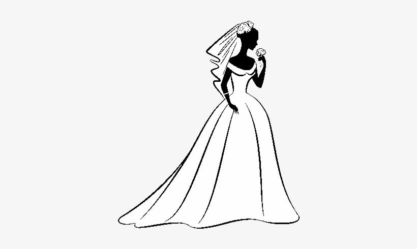 Dibujo De Vestido De Boda Y Velo Para Colorear Vestido De Noiva