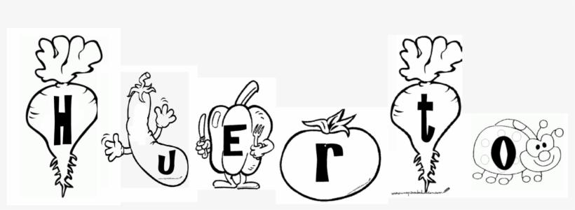Cartel Huerto Frutas Y Verduras Para Colorear 2212x702 Png