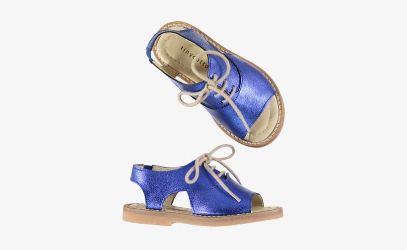 c617d71d11d Metallic Lace Tie Sandals Blue - Sandal - 600x600 PNG Download - PNGkit