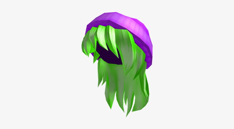 Purple Beanie With Neon Green Hair Cute Roblox Girl Hair 420x420 Png Download Pngkit