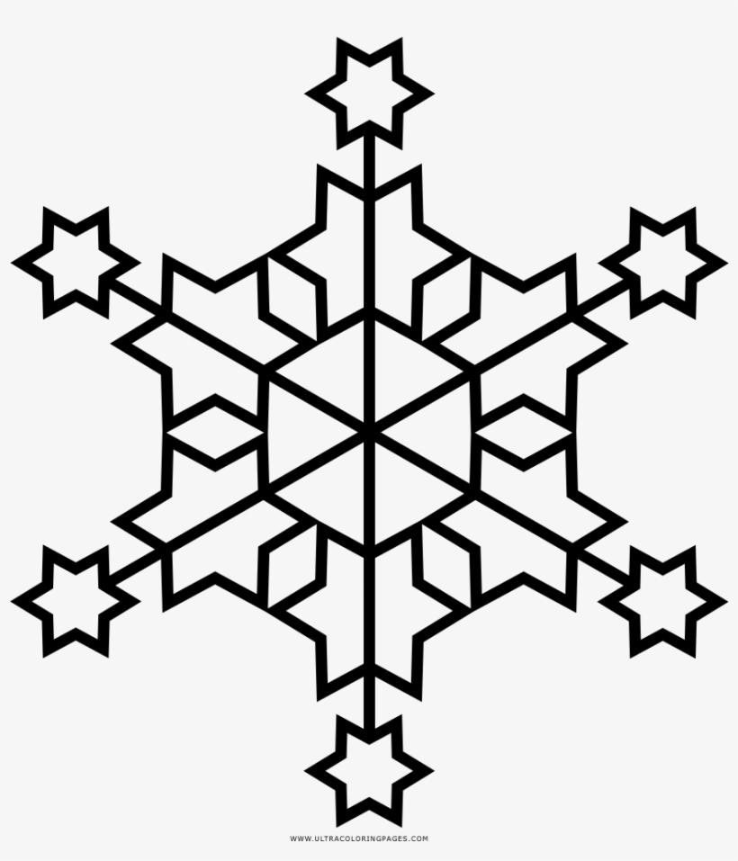 Floco De Neve Desenho Para Colorir Drawing 1000x1000 Png