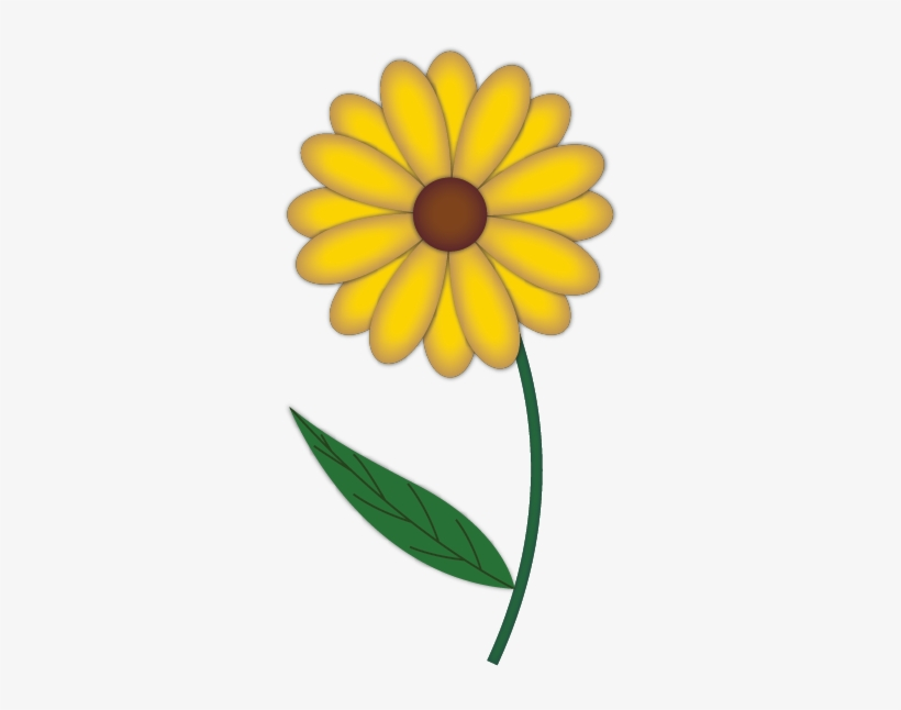 Draw A Flower In Illustrator Http Drawing Of Yellow Flowers 309x566 Png Download Pngkit
