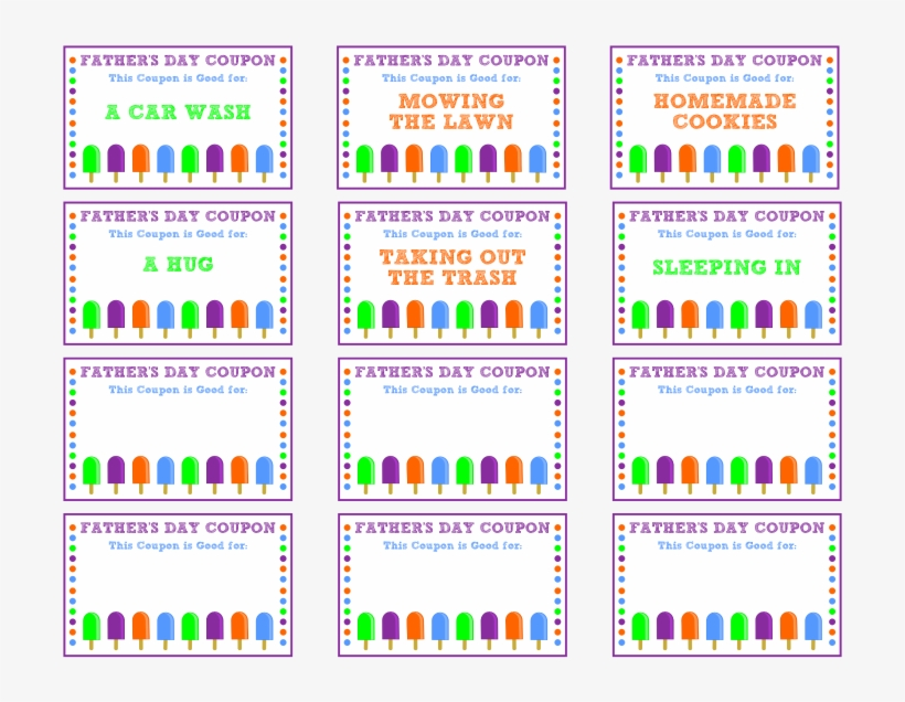 graphic relating to Printable Birthday Coupons named Coupon Ebook - Printable Birthday Coupon codes For Father - 776x600
