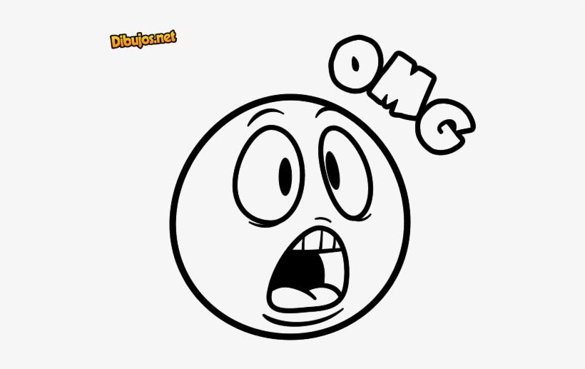 Imagen De Emoji Feliz Para Colorear Emoticon Sorprendido Para