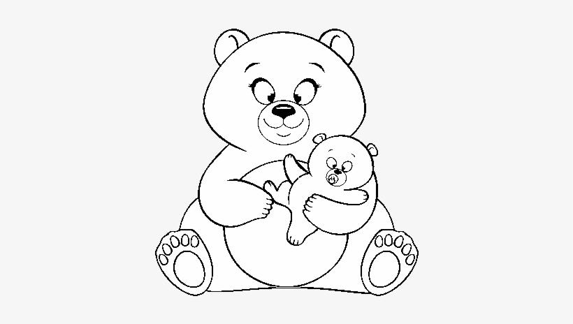 Desenho De Mãe Ursa Ursinho Para Colorir Ositos