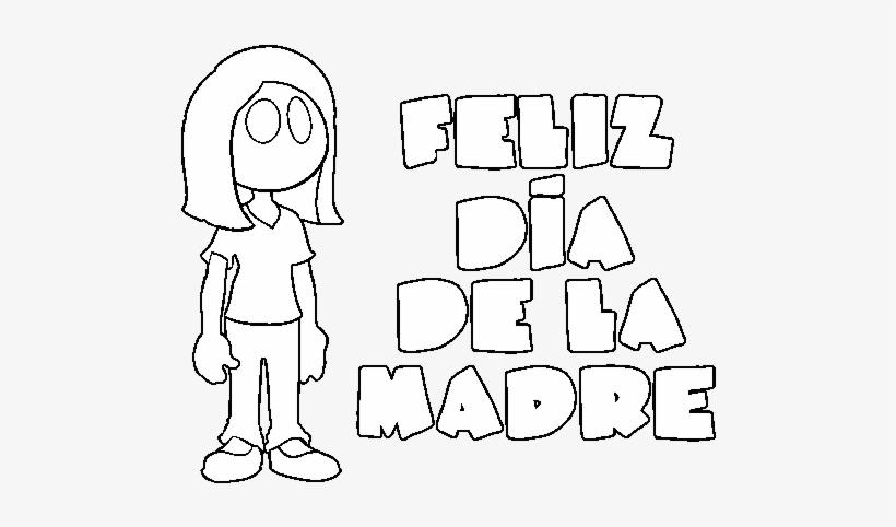 Dibujo De Feliz Dia De La Madre Para Colorear Drawing 600x470