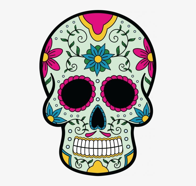 Sticker Calavera Tete De Tete De Mort Mexique 493x700