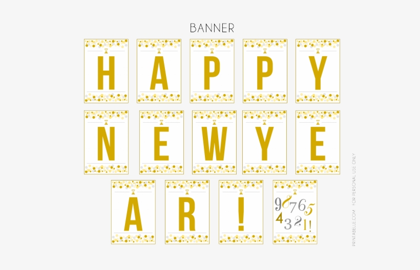 Free Printables Happy New Year Banner See More Party ...