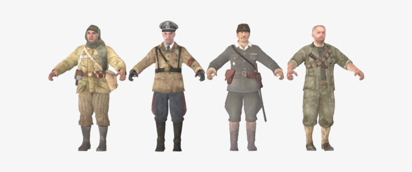 Free Call Of Duty Black Ops Zombies Five Characters Call Of Duty Zombies Heroes 640x267 Png Download Pngkit