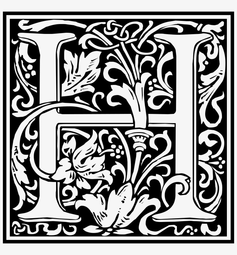 8571b9ebe041 Medium Image - William Morris Letter H - 800x800 PNG Download - PNGkit