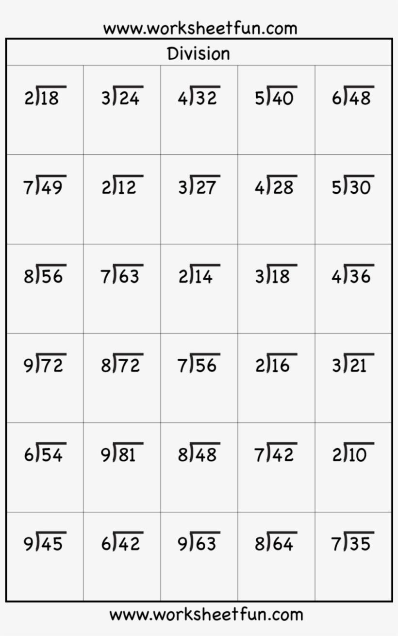 Download Transparent Division Worksheets 3rd Grade Math ...