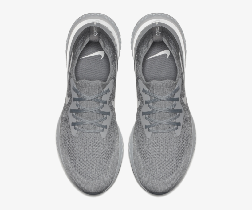 cheap for discount 98af6 69853 Women Shoes Png Nike Epic React Flyknit Grey Running - Shoe, transparent png