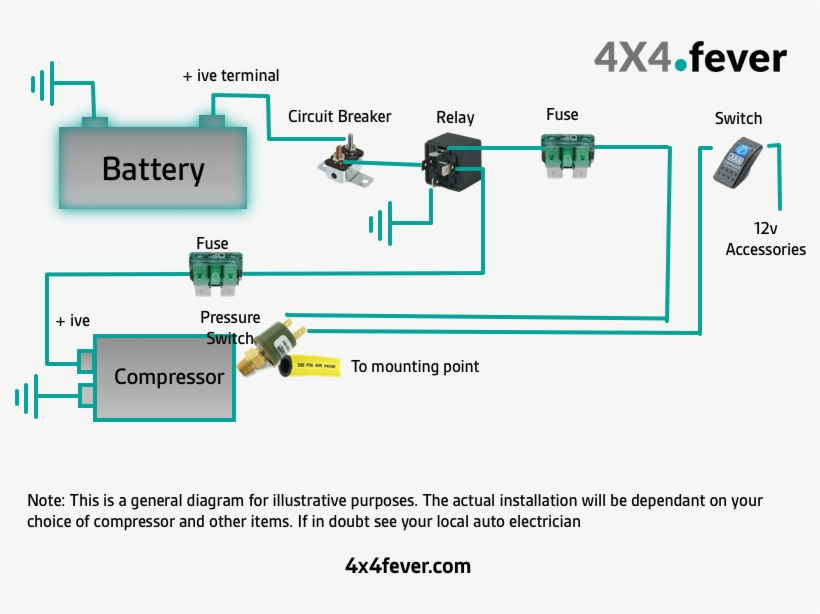 air horn installation diagram lovely installing an - wire a 12v compressor  - 800x600 png download - pngkit  pngkit