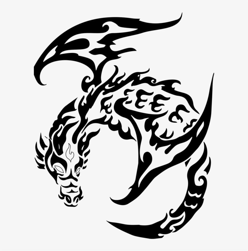 Tattoo dragon drawing tribal Tattoo Tribal