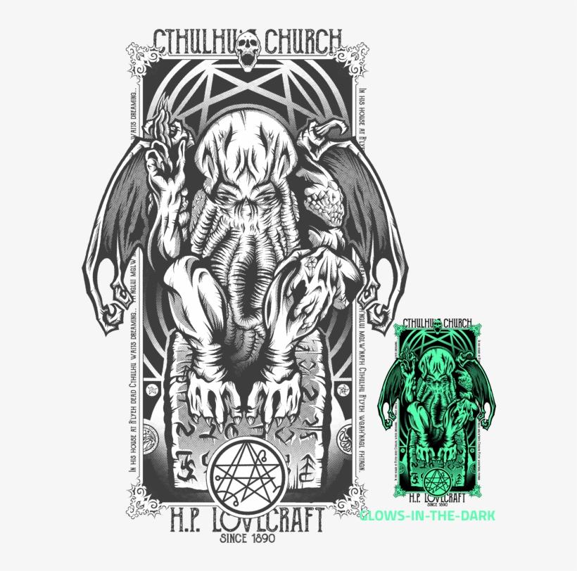 Cthulhu Church By Fearcheck - Necronomicon Gate Pendant
