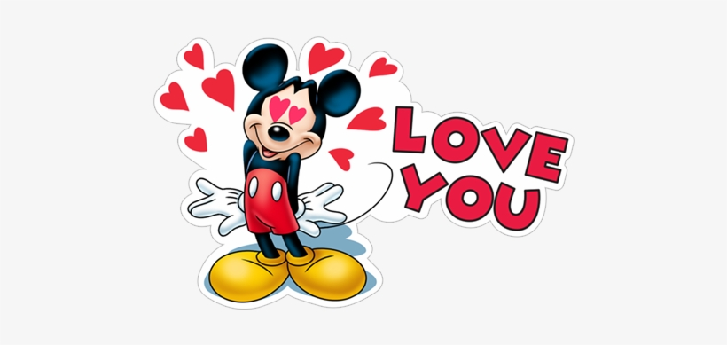 Love You Lovely Mickey Mouse Relationship Romantic - Mickey