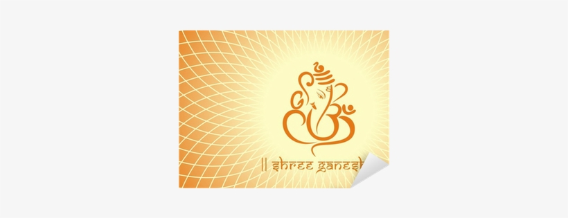 Ganesha Hindu Wedding Card Royal Rajasthan India Wall Vinyl