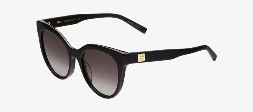 f401583bc38 Mcm Cat Eye Logo Plaque Sunglasses Meg7a2i05bk001 Alternateview2 - Square  Frame Black Gucci Sunglasses