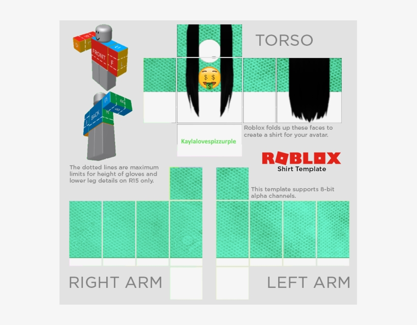 Girl Shirt Template Roblox The T Shirt Roblox Shirt Template