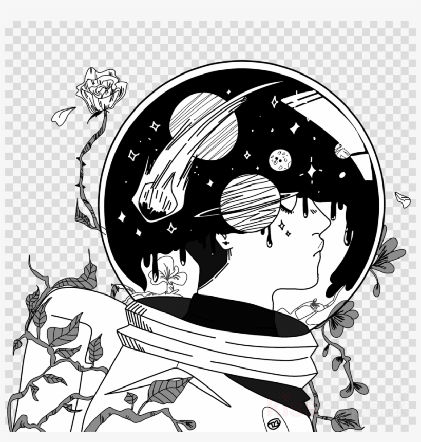 Download Space Astronaut Drawing Clipart Drawing Astronaut Astronaut In Space Drawing 900x900 Png Download Pngkit