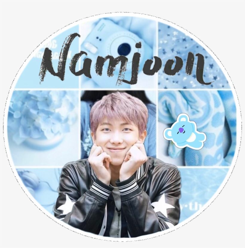 453 4539623 rm namjoon bts blue collage tumblr edit stickers