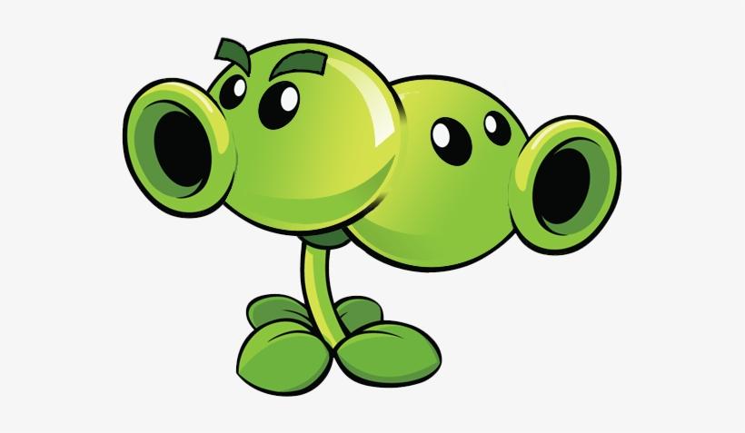 Split Pea - Plants Vs Zombies Double Peashooter - 551x397