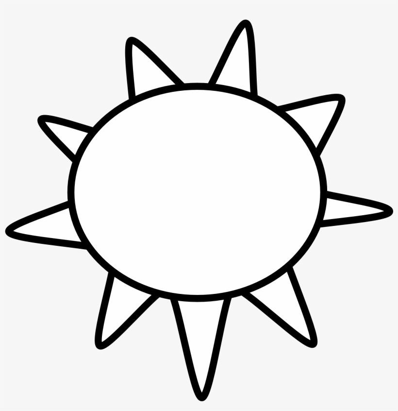 Sun Clipart Black And White Sun And Clouds Clipart Black And