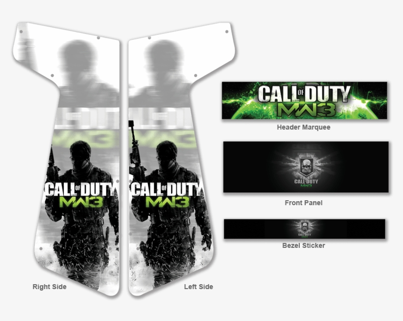 Custom Call Of Duty Modern Warfare 3 For Xtension Arcade Call Of