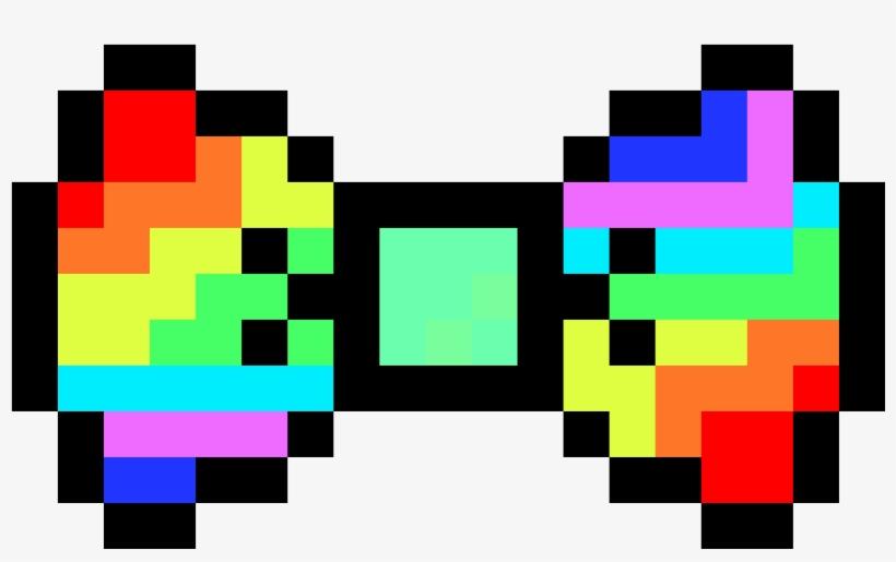 Rainbow Bowtie Bow Tie Pixel Art 1400x850 Png Download