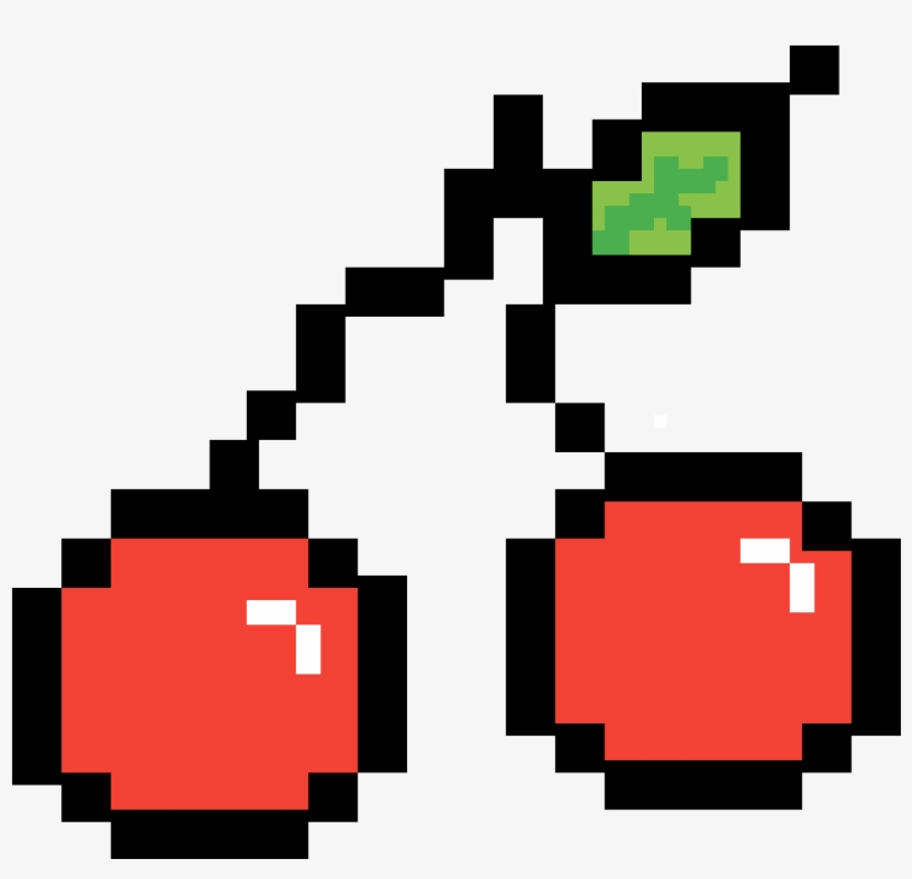 Pixel Cherry Watermelon Pixel Art Grid 1200x1200 Png