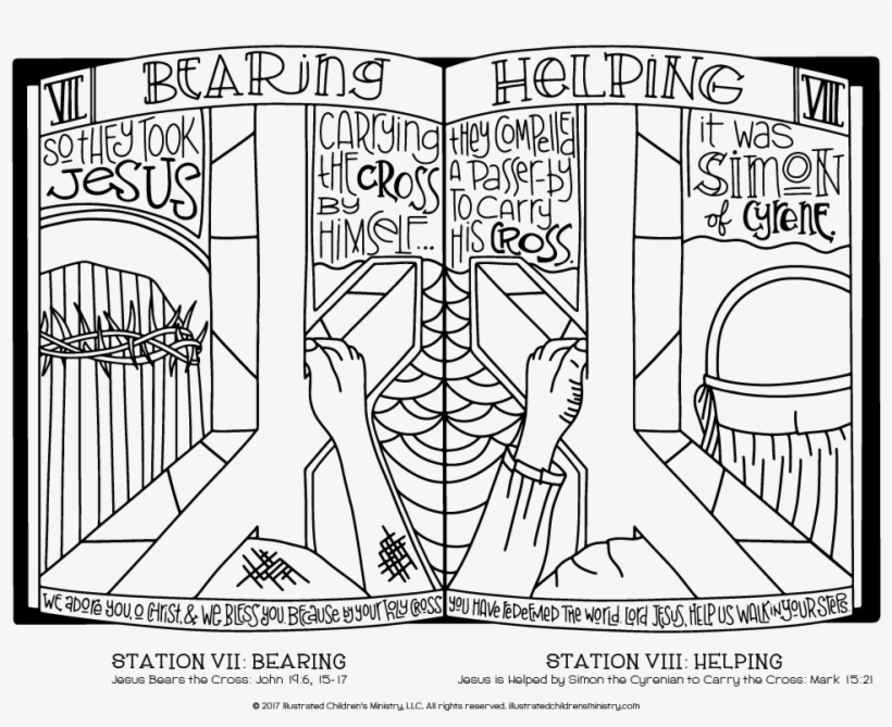 14 Best Stations Of The Cross Coloring Pages Images Easter
