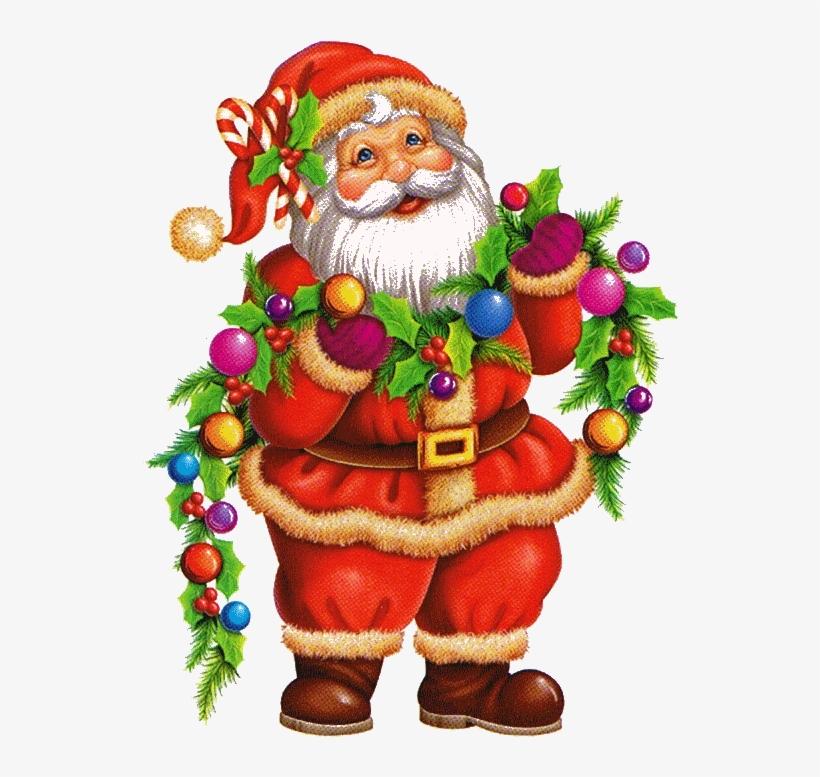 Decoration De Noel A Imprimer En Couleur Draw Santa Claus And Christmas Tree 549x759 Png Download Pngkit