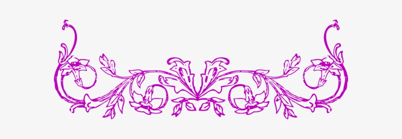 Pink Flower Clipart Flower Bottom Border Horizontal Flower