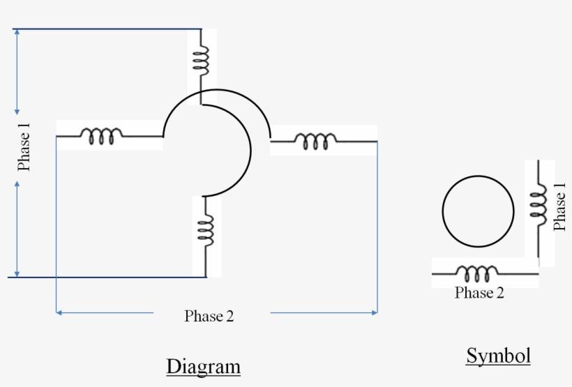 split phase ac induction motor diagram and symbol ac