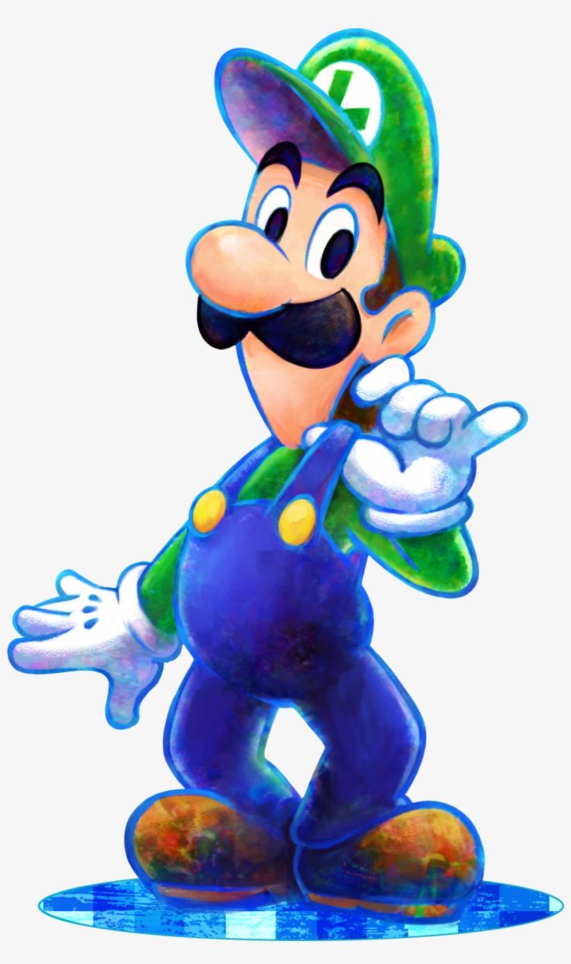 Luigi Dream Team Luigi Mario And Luigi 1172x1921 Png Download Pngkit