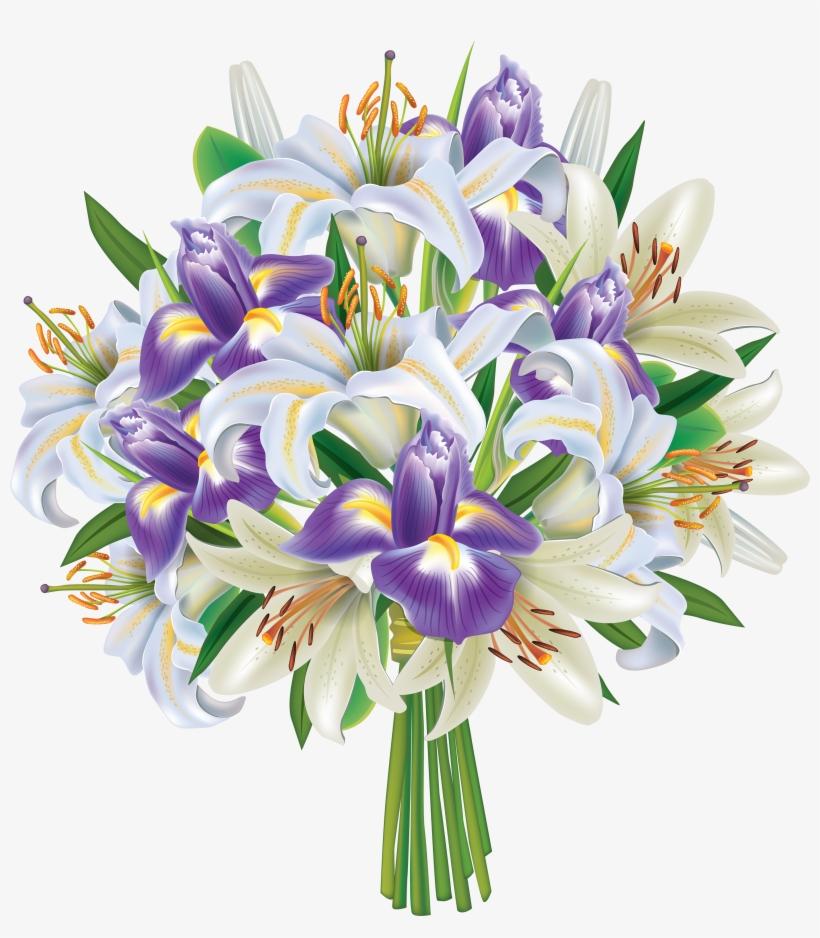 Bokeh Flowers Wedding: Bouquet Clipart Flower Bokeh
